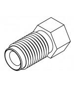 Brake Line Fitting Male  M9 x 1mm 3/16